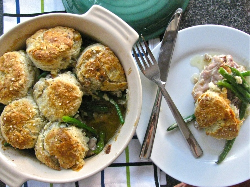 Tomato Cobbler With Blue Cheese Biscuits Recipe — Dishmaps
